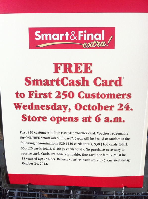 Free SmartCash Cards for first 250 customers