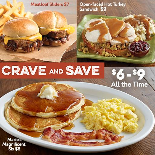 Marie Callender's NEW Crave & Save Menu - My Life is a Journey Not ...