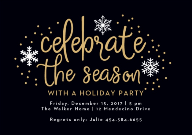 Holiday Party Invite from Basic Invite
