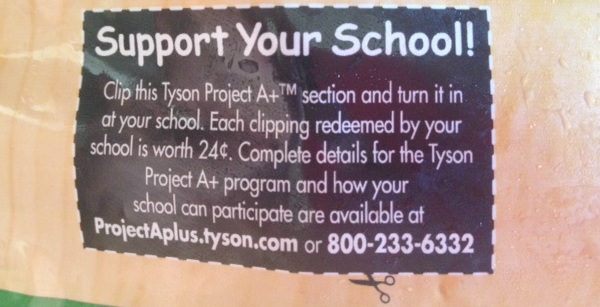 #ad clipping labels for the Tyson Project A+