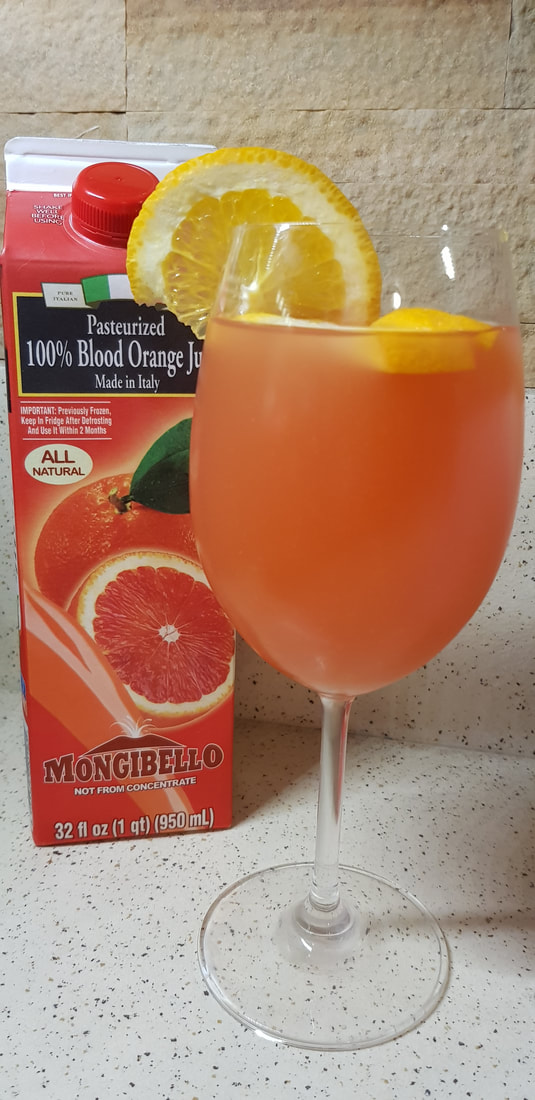 Sparkling Orange Blood Mocktail