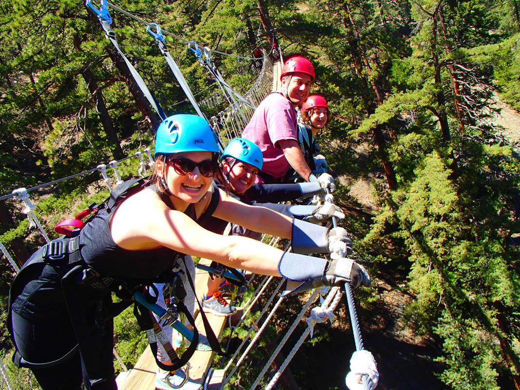 Hanging brigde Ziplines at Pacific Crest