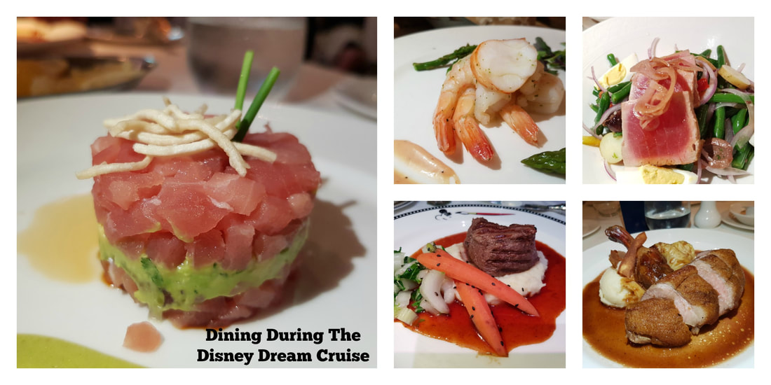 Dinning During The Disney Dream Cruise