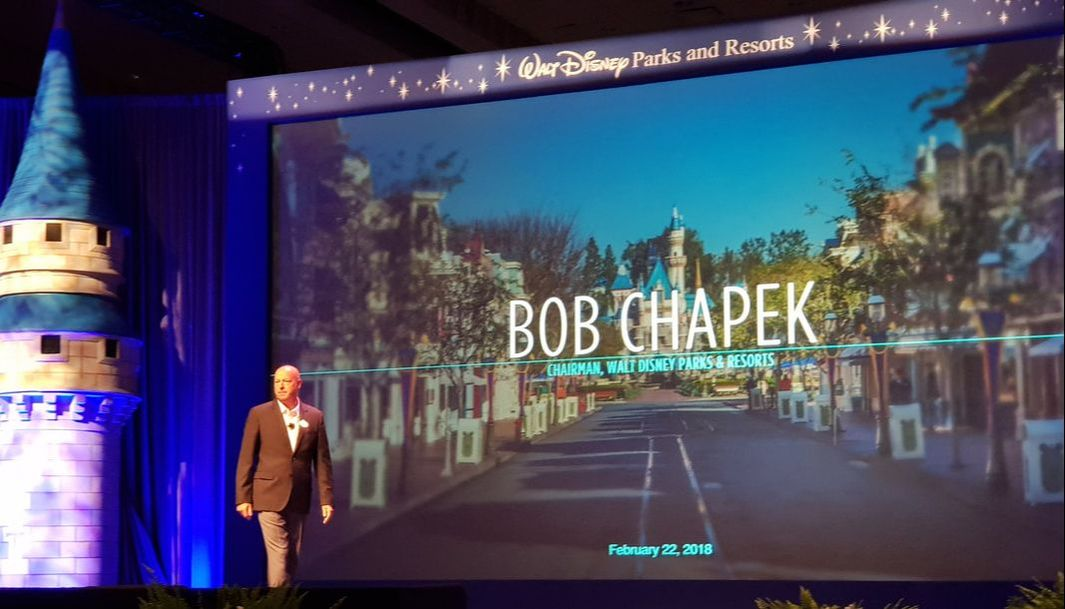 chairman of Walt Disney Parks and Resorts, Bob Chapek