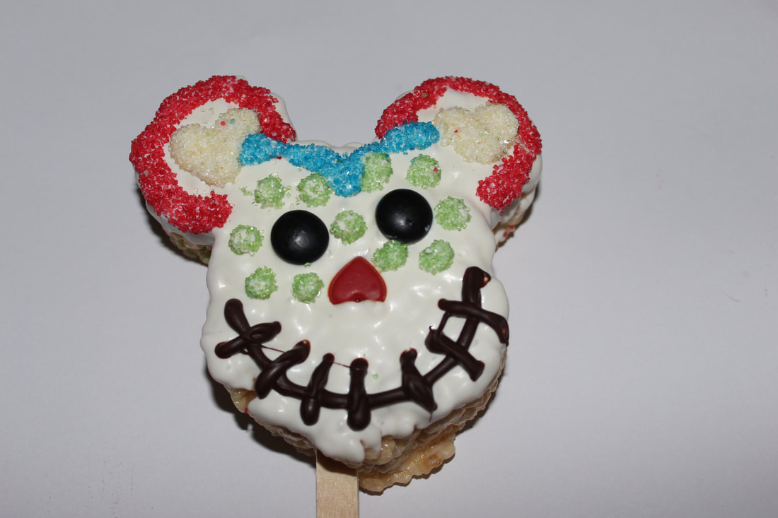 Day of the Dead Mickey Rice Krispies Treats