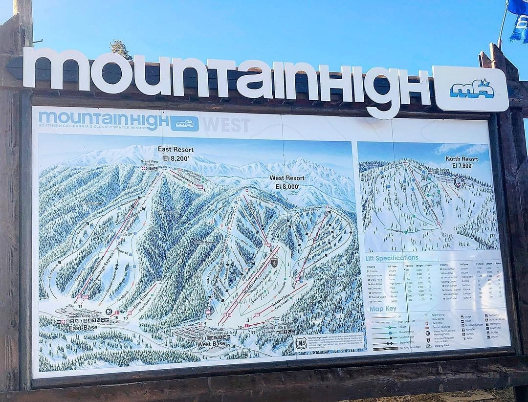 Skiing at Mountain High Resort
