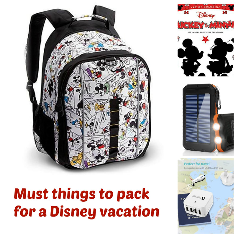 Must Things To Pack For A Disney Vacation