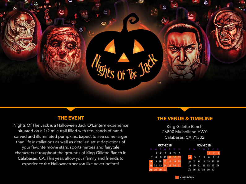 Nights of The Jack: LA's Largest Family Friendly Jack O'Lantern Experience