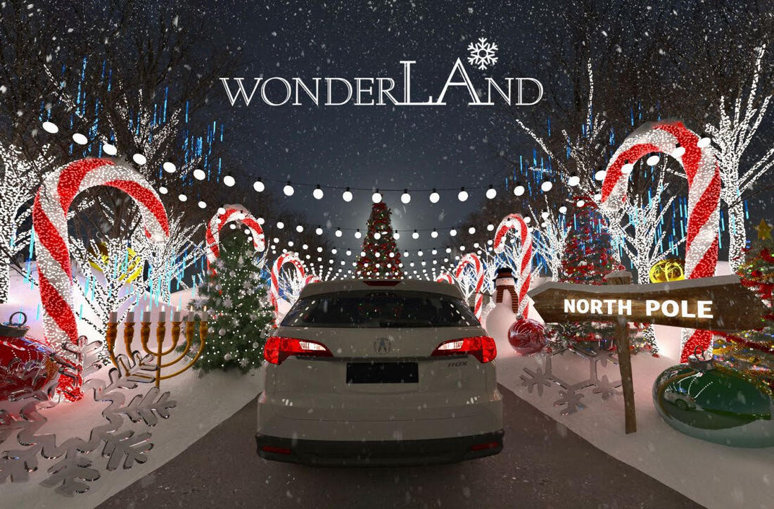 Drive Through a Winter WonderLAnd in Los Angeles